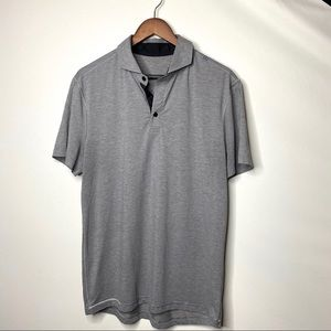 Lululemon grey polo tee M standing collar
